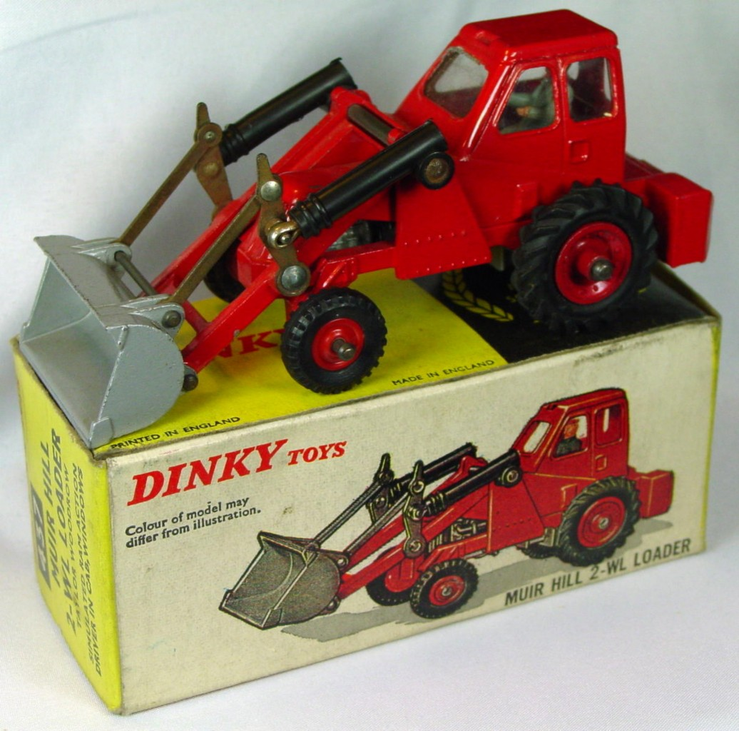 Dinky 437 - Muir Hill Loader Red 3 chips C9- unglued box