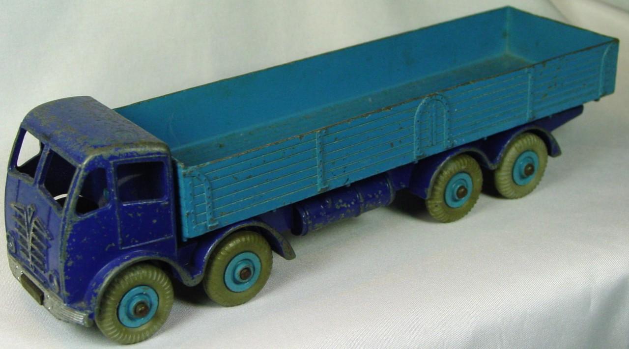 Dinky 501 - Foden Stake Truck dark Blue and light Blue GPT blue hubs