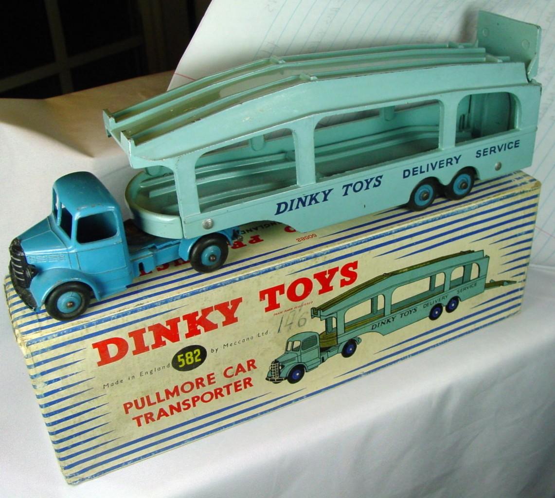 Dinky 582 - Pullmore Transporter Blue blue decks (NM+) C8.5 box