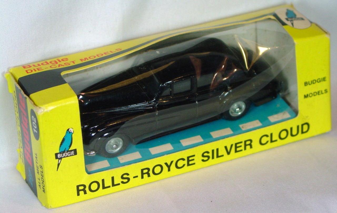 43 - BUDGIE 102 Rolls Silver Cloud Black C9- window box