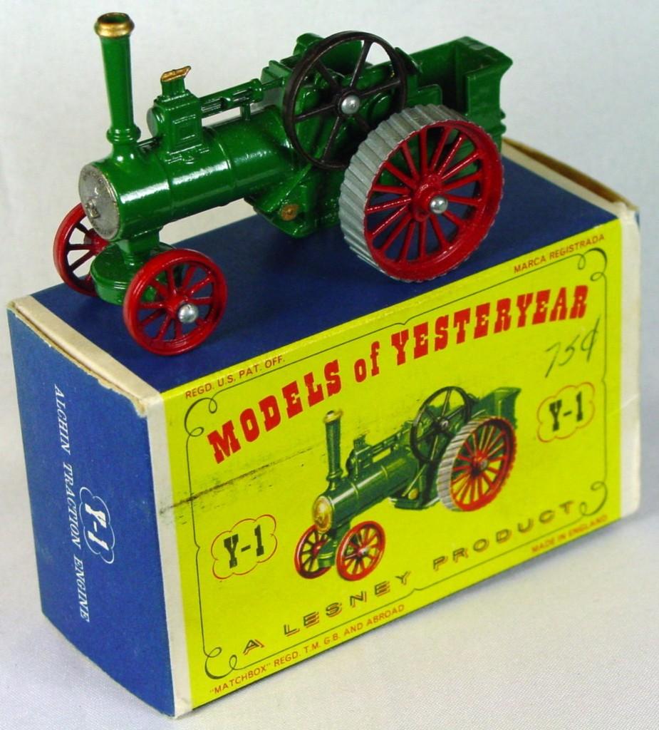 Models of YesterYears 01 A - Allchin gold boil matt black flywheel C9- D1 box