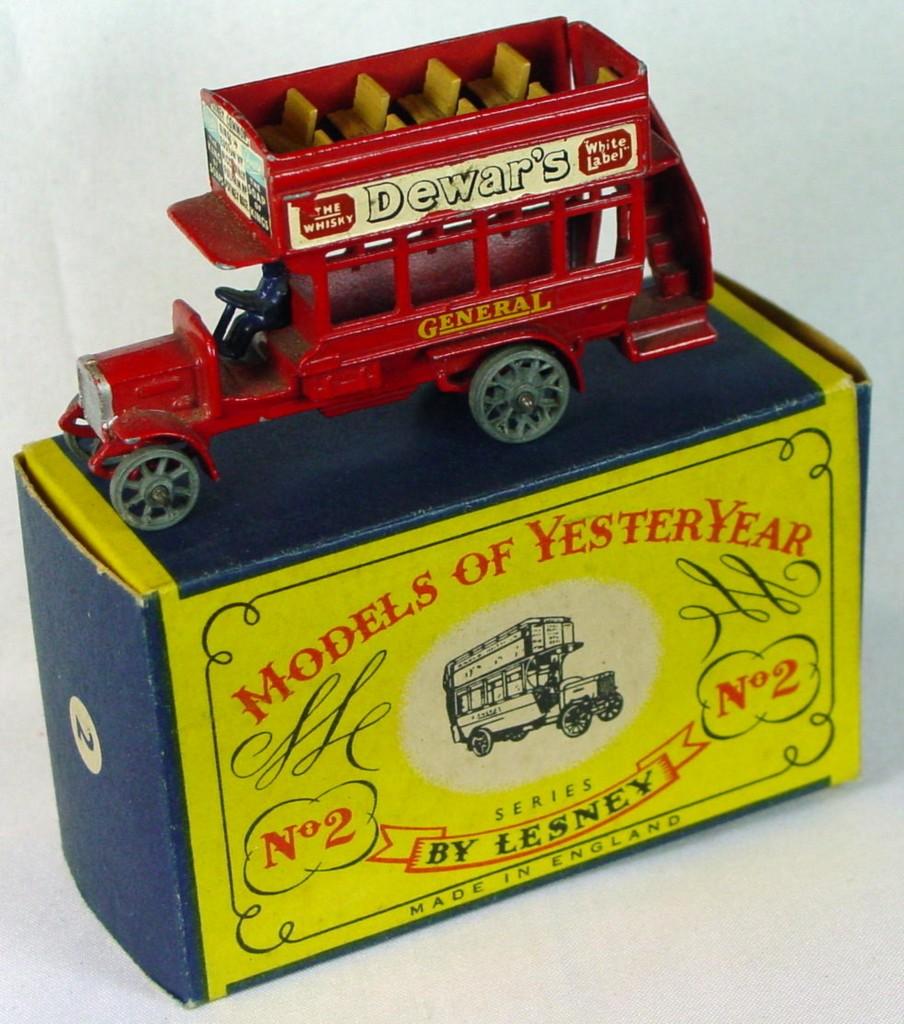 Models of YesterYears 02 A 3 - Bus black driver metal wheels crimped axles silver rad shl unp ceil MILL7 C9+ B