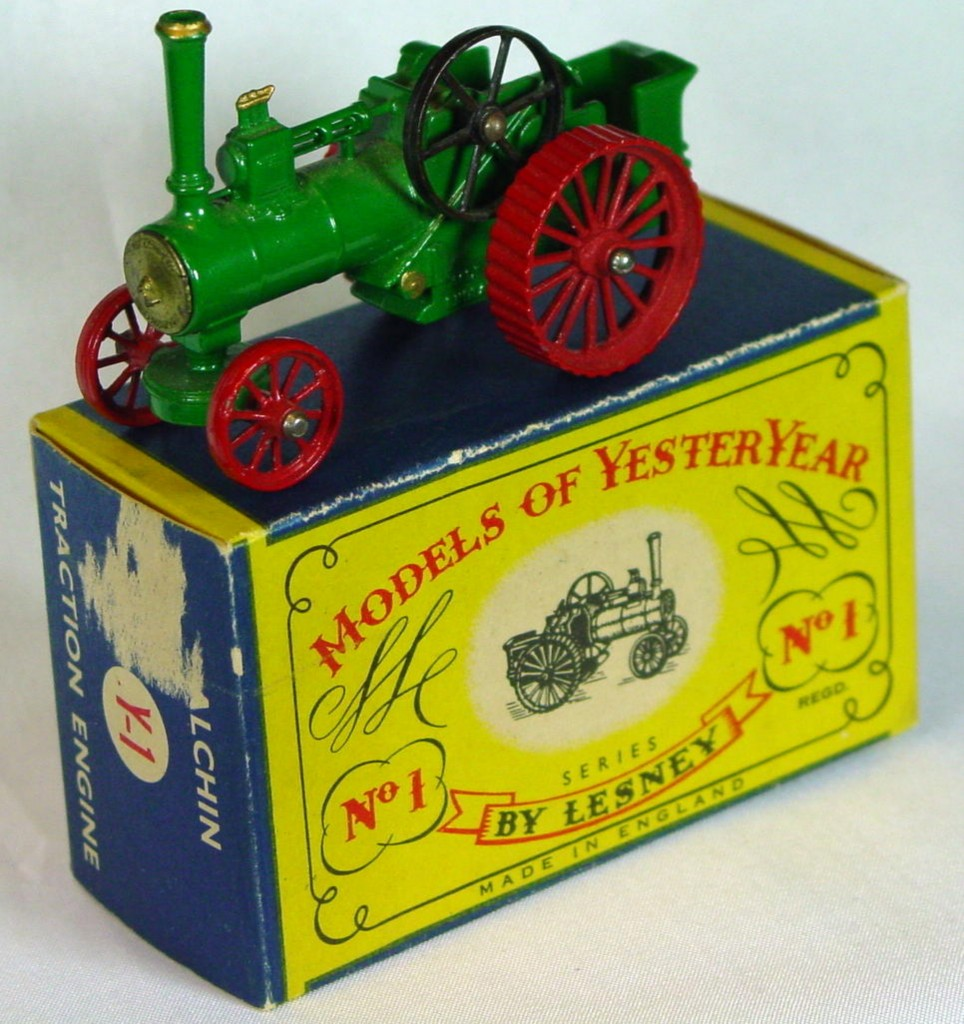 Models of YesterYears 01 A 5 - Allchin PAINTED TRDS rounded axles 9 slats 3chip C9- C MILL16