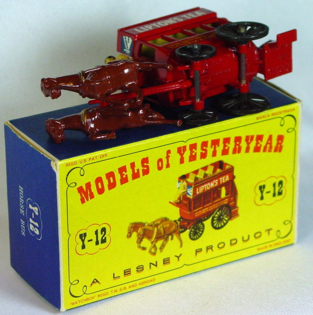 Models of YesterYears 12 A - Horse Bus 1 rivet tan deck typ 1 C9.5 D1 MILL6