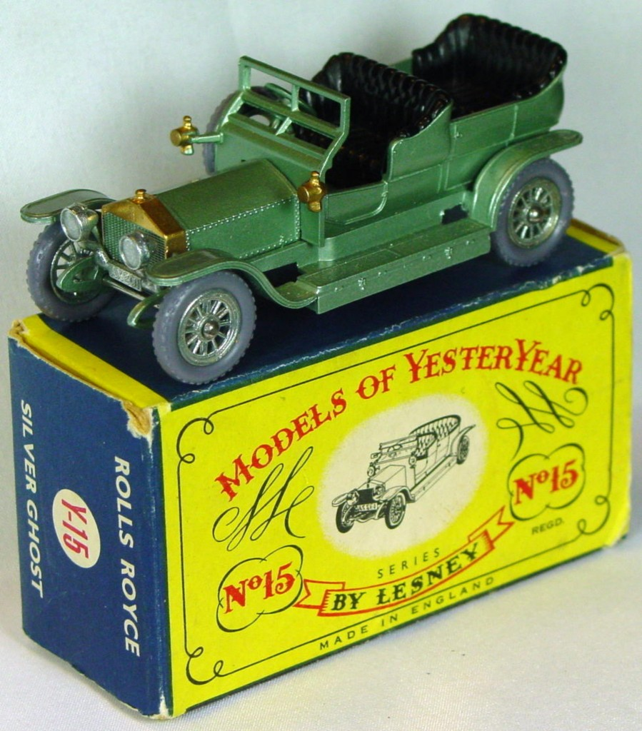 Models of YesterYears 15 A 1 - Rolls knobby grey plastic wheels silver rear license C9- C box