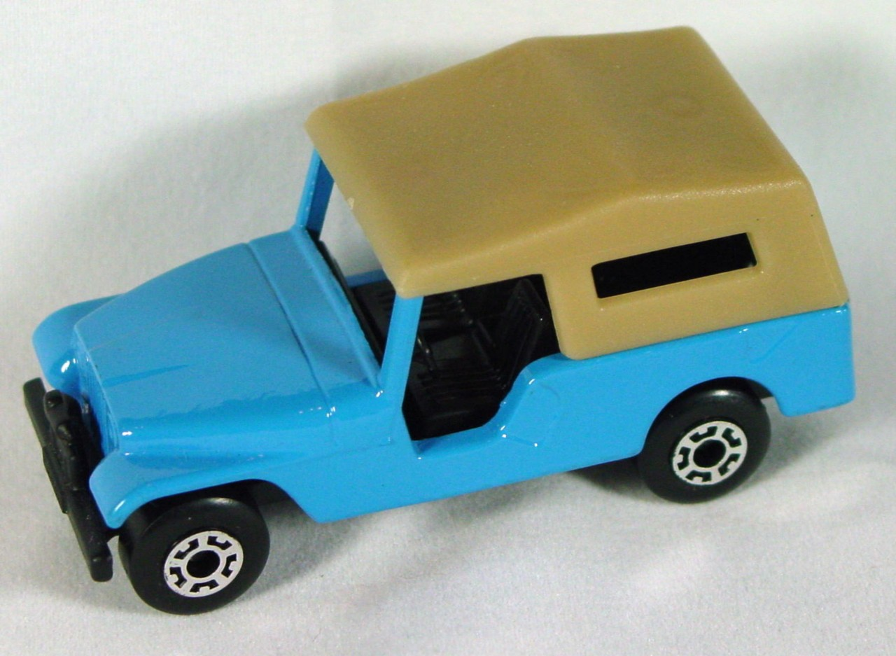 Hungarian 53 C 1 - CJ6 Jeep light Blue tan roof black base black interior