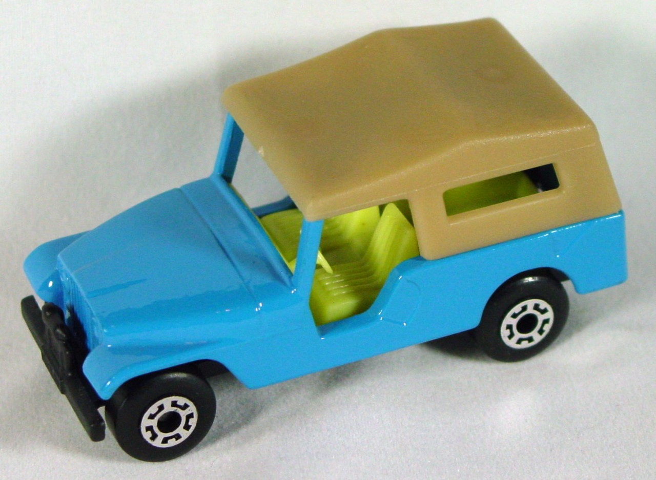Hungarian 53 C 1 - CJ6 Jeep light Blue tan roof black base pale yellow interior