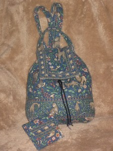9ad042633b72 HTF  Vintage Vera Bradley Animal Kingdom backpack   matching tri on ...