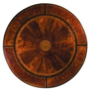 Round Flaming Mahogany Perimeter Leaf Dining Table 80