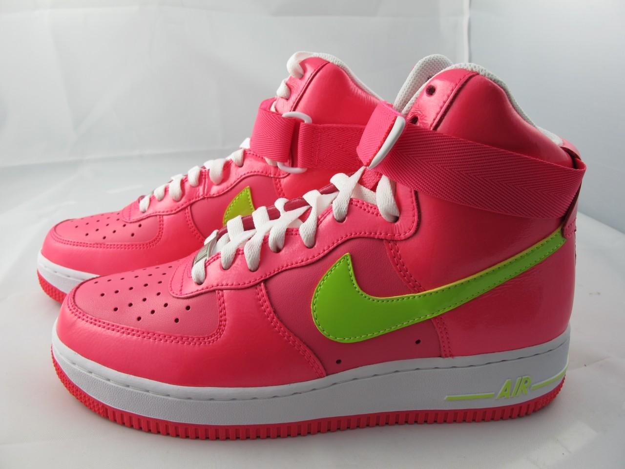 new women 39 s nike air force 1 high 334031 600 pink flash. Black Bedroom Furniture Sets. Home Design Ideas