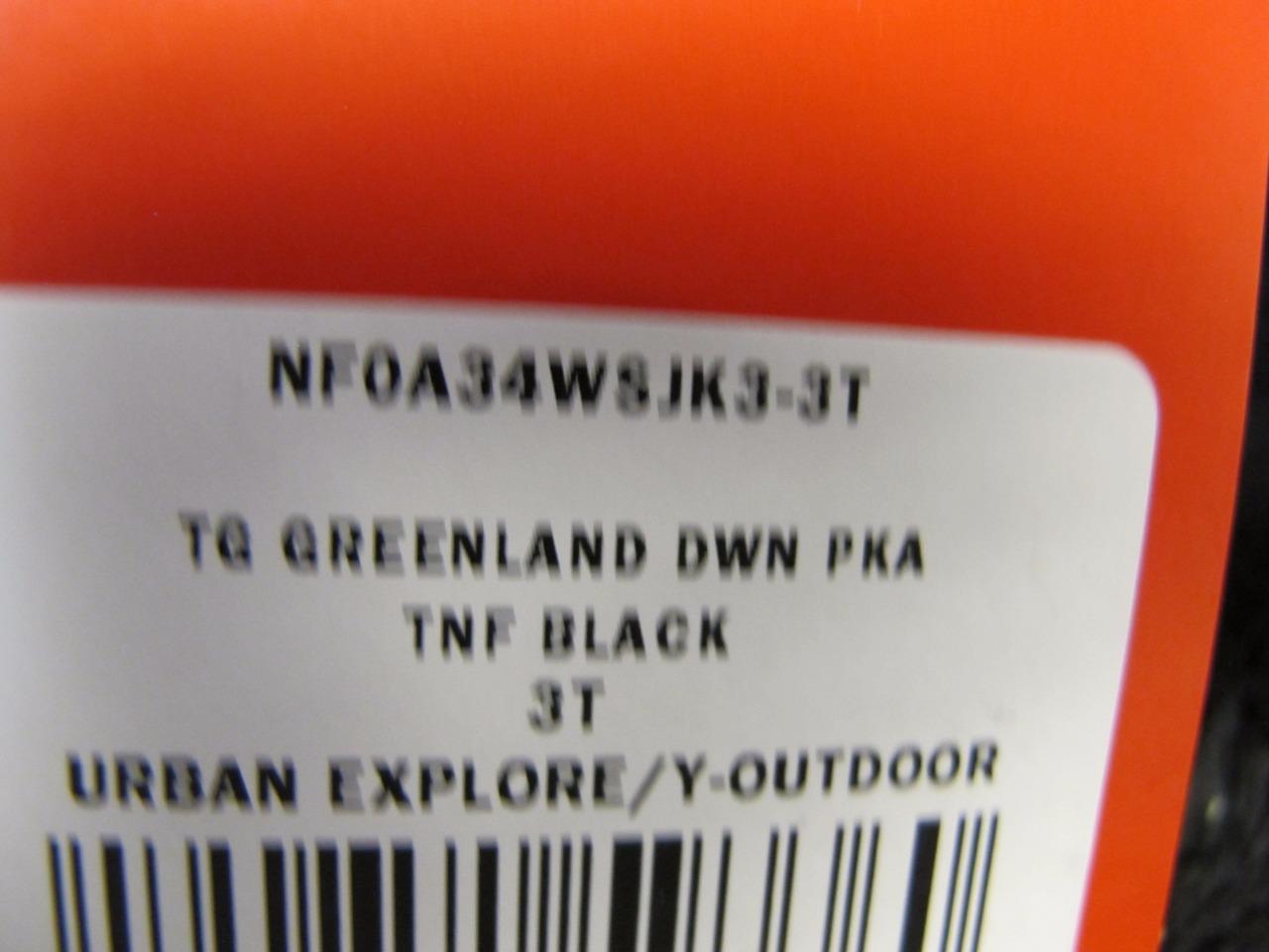 451549f95 NUEVO Northface Todd Girl s Greenland abajo parka un 34 wsjk 3 Negro ...