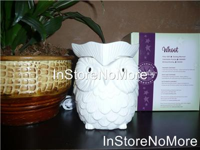 1 Scentsy Full Size Premium Warmer Whoot Owl White Glowing