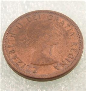 1959 Canada Canadian Penny 1 One Cent Small Cent Coin Ebay