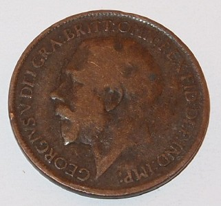 1918 U.K. GREAT BRITAIN 1/2 PENNY HALF Cent copper COIN   eBay