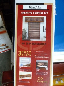 12 Quot X 48 Quot Creative Cornice Kit Foam No Sew Foam Fabric