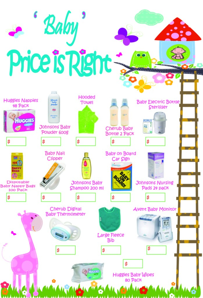 Price is Right Baby Shower Game (with Free Printable!)