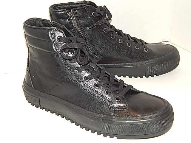Frye Men Black Leathe Sneaker Size 9 m