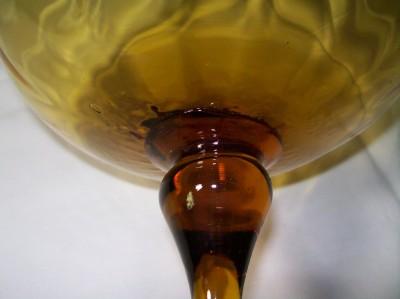 Giant Oversized Brandy Snifter Vase Spiral Optic Golden Amber Blown Italian Ebay