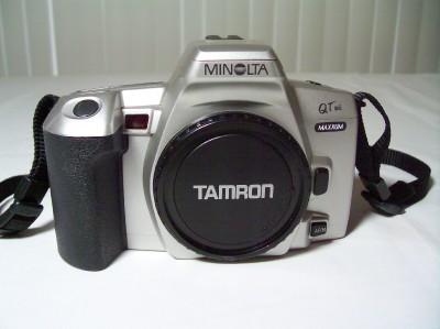 Minolta Maxxum Qtsi 35mm Film Camera New Batteries Manual border=
