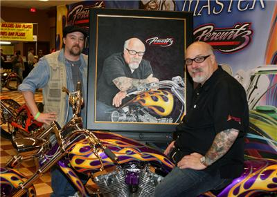 John Guillemette with Dave Perewitz & King of Flames Portrait