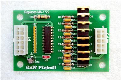 NEW Gottlieb Pinball Aux Driver Board MA-1722
