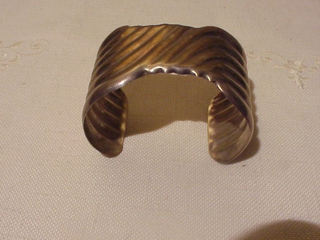 Vintage Taxco Mexican Sterling Silver Cuff Bracelet 925