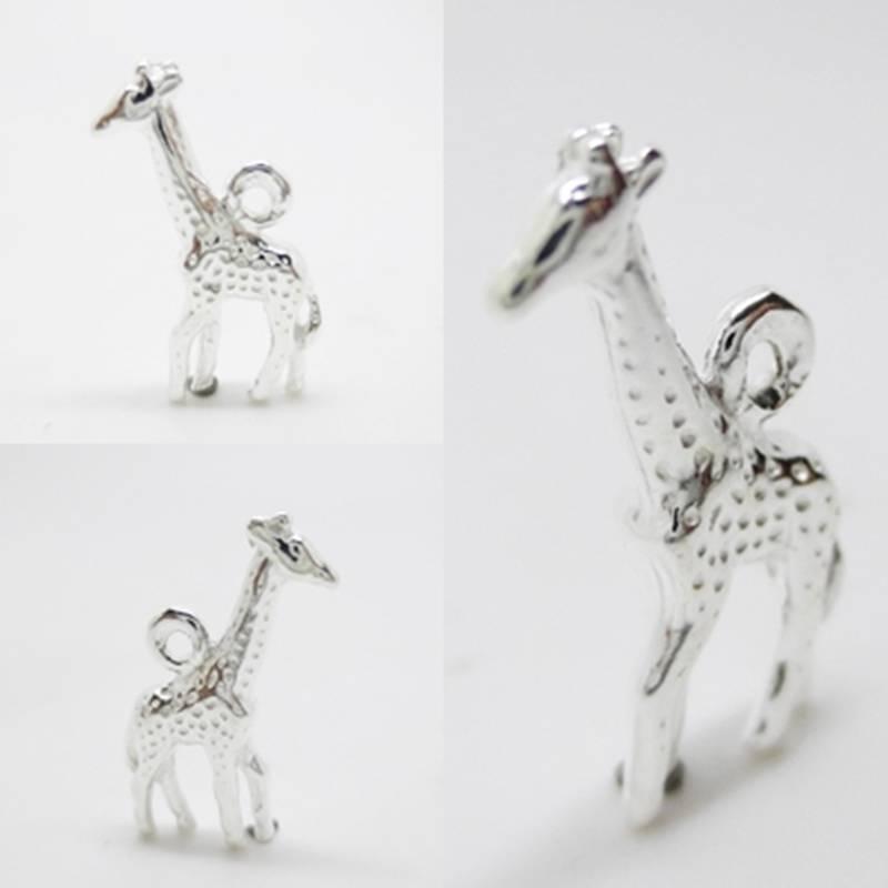 Giraffe Charm Bracelet: Giraffe Animal Africa 925 Sterling Silver Charm Pendant W