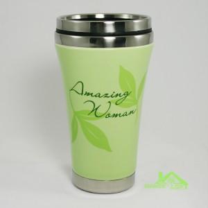Abbey press amazing woman travel mug ceramic shell - Travel mug stainless steel interior ...