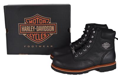 6b4651ab1dcf NEW Harley-Davidson Men s Black Leather Vista Ridge Biker Riding ...