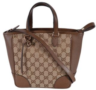 af45fa0c6d57 Details about New Gucci Women s 449241 Beige Brown Small Bree GG Guccissima Crossbody  Bag