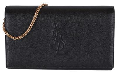07949670a818 New Saint Laurent YSL Black Leather Belle de Jour Crossbody Wallet ...