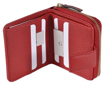11e11b68afdd NEW Gucci Women's 346056 Beige Red GG Guccissima French Zip Around ...
