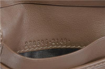 f934c220ef81 NEW Gucci Men's 278596 Acero Brown Micro GG Guccissima Large Bifold ...