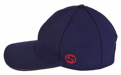 9bc48066b3e NEW Gucci Men s 387554 BLUE Canvas Interlocking GG Web Baseball Cap ...
