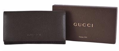 fc437e95610e New Gucci Women's 143391 GG Guccissima Denim Leather Continental ...