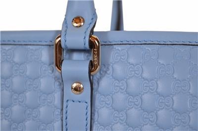 0483e3b2fe6 NEW Gucci 449647 Light Blue Leather Micro GG Guccissima Joy Purse ...