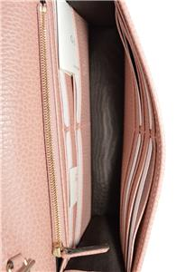 4173872fd59 NEW Gucci 510314 Pink Leather Interlocking GG Crossbody Wallet Bag ...