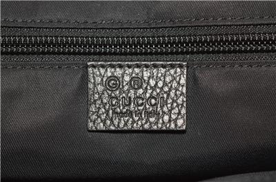 402d067bd3ad NEW Gucci 510335 Black Nylon Leather GG Guccissima Messenger Bag ...