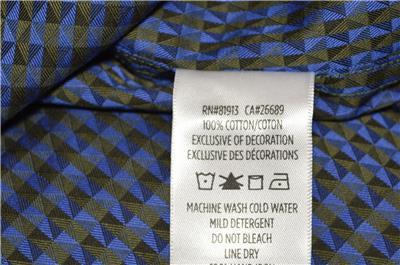 NEW Robert Graham $198 DOGWOOD Geometric Print Classic Fit Sports Dress Shirt