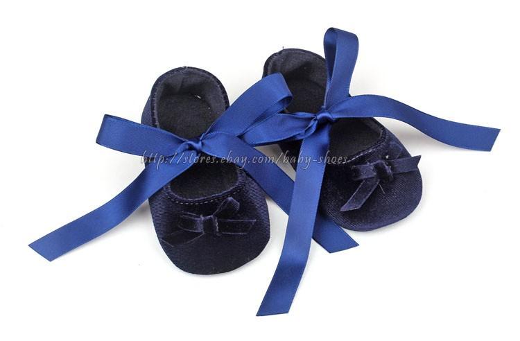 Toddler Baby Girls Velvet Ballet Slippers Infant Soft Sole Crib Shoes Size 1 2 3