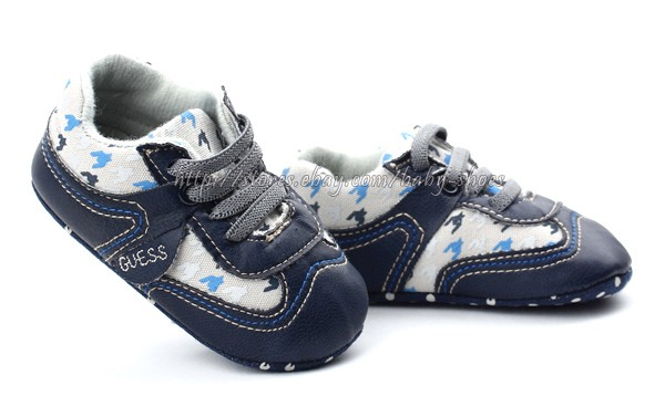 Baby Boy Navy Soft Sole Shoes Toddler Sneaker Size Newborn to 18 Months