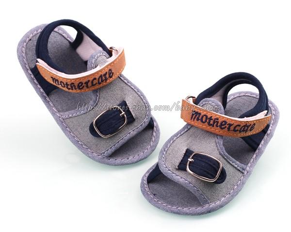 Toddler Baby Boy Soft Sole Crib Shoes Denim Sandals Size Newborn to 18 Months