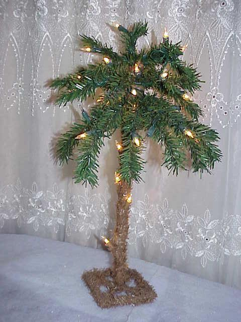 Lighted Tropical Hawaiian 1.5-Feet Palm Tree Christmas ...