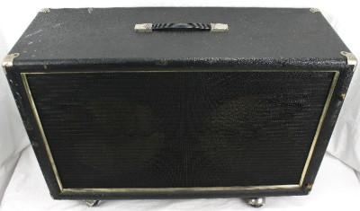 vintage 2x12 empty electric guitar amplifier amp speaker cabinet cab fender ebay. Black Bedroom Furniture Sets. Home Design Ideas