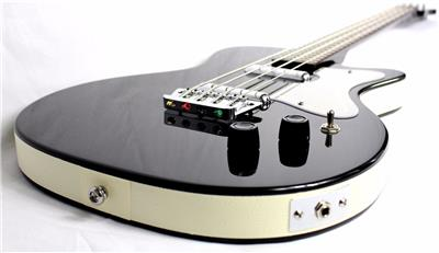 new danelectro dano 56 single cut short scale 4 string electric bass black ebay. Black Bedroom Furniture Sets. Home Design Ideas
