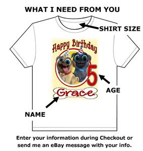 Puppy Dog Pals Birthday T Shirt Personalized Any Name Age Toddler To