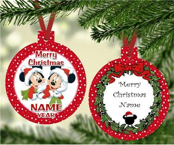 Mickey Mouse Christmas Ornament personalized with any name
