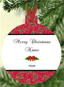 """Personalized ELVIS Christmas Ornament #1 Any Name Custom Music 3/"""" Round Flat"""