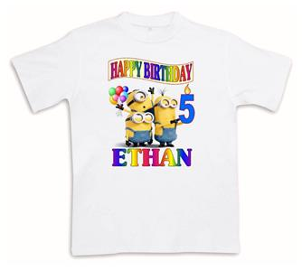 MINIONS Happy Birthday T Shirt