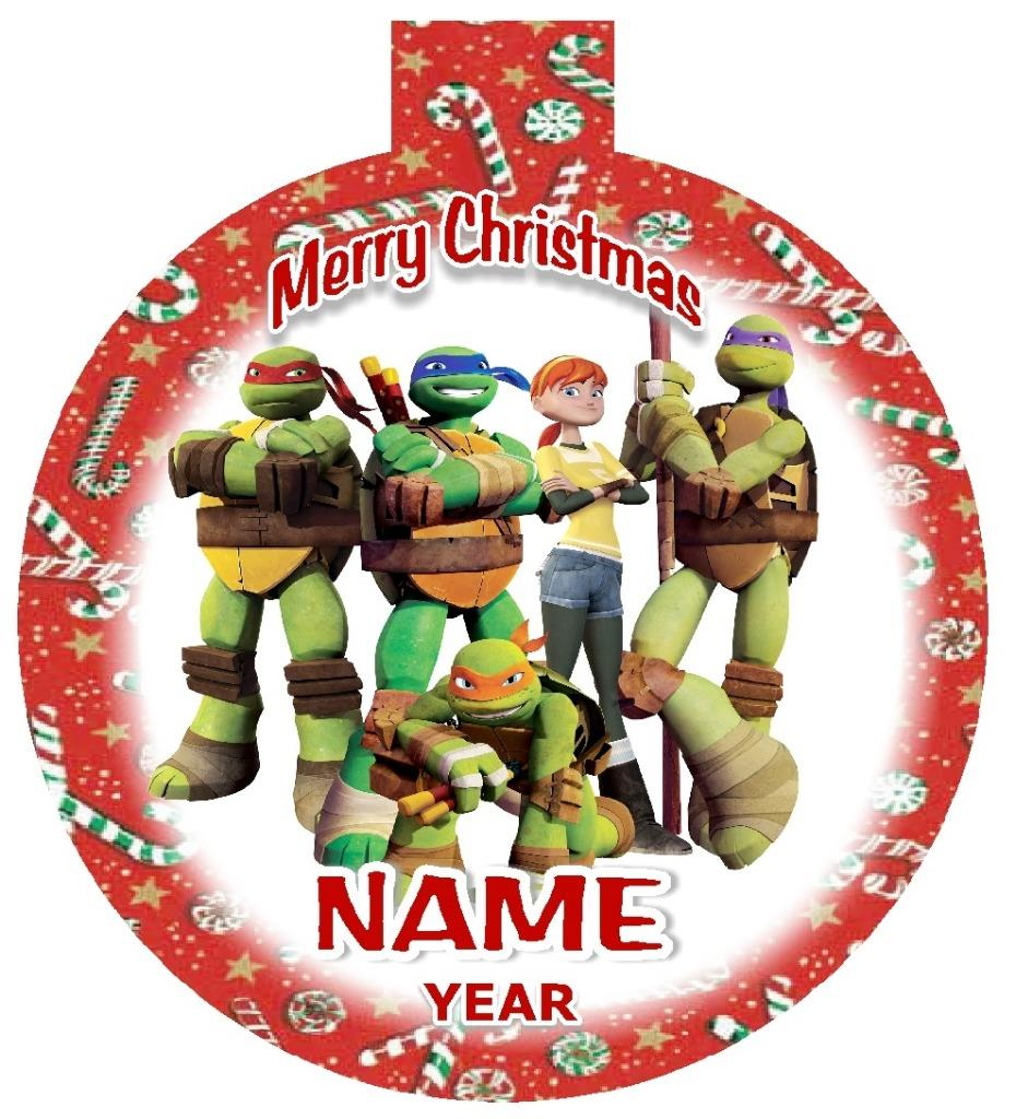 TEENAGE MUTANT NINJA TURTLES Personalized Christmas Ornament Any ...